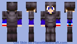 My Original Sword And Shield Avatar Wearing Netherite Minecraft Skin