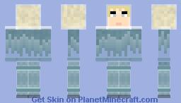 Ice humanoid from Neptune Minecraft Skin