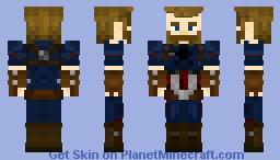Captain America (Steve Rogers: Infinity War) Minecraft Skin