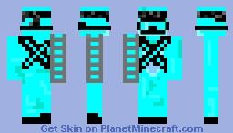 Diamond Fox Commando Minecraft Skin