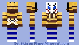 HUNTER CAT WITH A MASK Minecraft Skin
