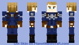 Captain America (Steve Rogers: Winter Soldier/Stealth suit) Minecraft Skin