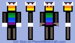 Rainbow King Minecraft Skin