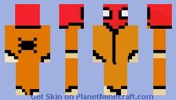 no battle damage prison spidey Minecraft Skin