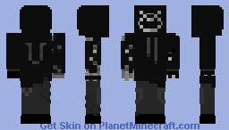 NeonUsak black & white version Minecraft Skin