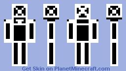 Black white Man Minecraft Skin