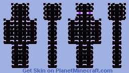 Glow Effect Enderman Minecraft Skin
