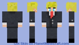 TommyInnit In A Suit Minecraft Skin