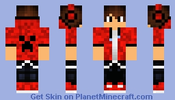 red gamer boy Minecraft Skin