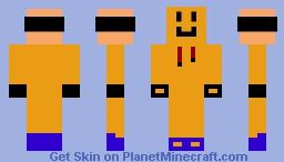 orange Dream With Sonic Shoes (I think) Minecraft Skin