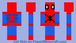 Spiderman Suit Minecraft Skin