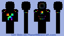 Rainbow guy Minecraft Skin