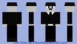 Charlie Chaplin noir et blanc Minecraft Skin