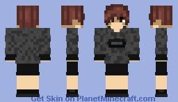 OC - ItsDarkie #4 - Black Camo Shirt Minecraft Skin