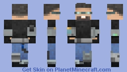 Space and Time Traveler from the Caucasus 20 years later Minecraft Skin