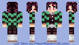 Tanjiro Kamado 竈門 炭治郎 (Demon Slayer) Minecraft Skin