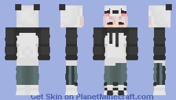 CUTE PANDA BOI!!! X3 Minecraft Skin
