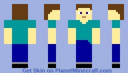Simple texture Steve Minecraft Skin