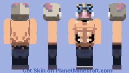 Inosuke Hashibira (Demon Slayer) 嘴はし平びら 伊い之の助すけ Minecraft Skin