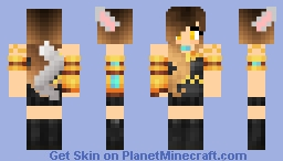 Kim as a wolf Minecraft Skin