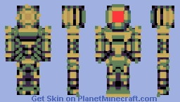 Space armor (style n color palette test) Minecraft Skin