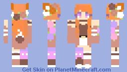 foxyrce but the hair is orange Minecraft Skin