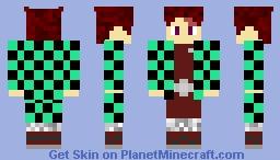 Tanjirou Kamado ( demon slayer ) Minecraft Skin