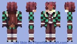 Tanjiro Fox Minecraft Skin