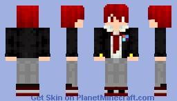 Highschool City Boy with red hair Minecraft Skin