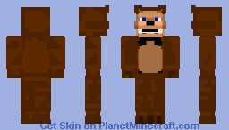 Freddy from fnaf (but with more based of real life animatronic aperence i quess?) Minecraft Skin