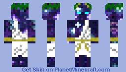 galaxy Steve god form Minecraft Skin