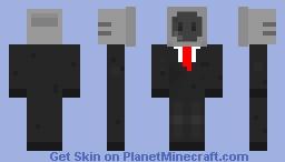 Business Tv Man Minecraft Skin