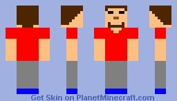 opposite herobrine Minecraft Skin