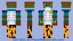 MY reshaded skin BUUT I added a mask Minecraft Skin