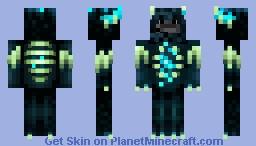 Warden cobbleman Minecraft Skin