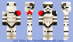 stormtrooper (red pauldron) Minecraft Skin