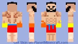 Muscular holiday man Minecraft Skin