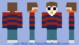 striped sweater gnf Minecraft Skin