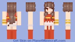 Scar faced girl Minecraft Skin