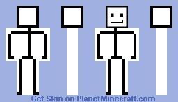 Confusing Stickman Minecraft Skin