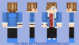 Blue hood boy Minecraft Skin