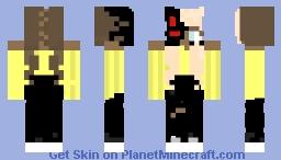 Evil robot girl Minecraft Skin