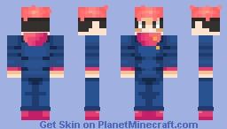 Yuuji Itadori | Jujutsu Kaisen (Steve model) Minecraft Skin
