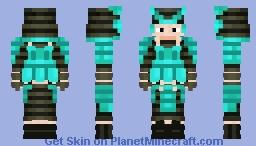 Turquoise Samurai Minecraft Skin