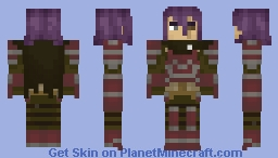 """Deen (Fire Emblem Echoes: Shadows of Valentia) - """"I don't talk about myself in front of annoying strangers... It's a policy."""" Minecraft Skin"""