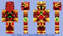 Red Ninja Knight Minecraft Skin