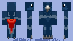 Parrot (Red-tailed black cockatoo) Minecraft Skin