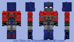 TF-FOC: Optimus Prime Minecraft Skin