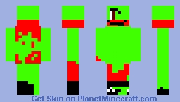 Infected Among Us Crewmate (Red is Sus) Minecraft Skin