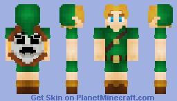 Young Link   Majora's Mask   1.8+ Minecraft Skin